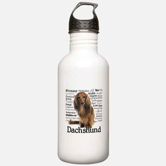 Dachshund Traits Water Bottle