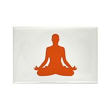 Yoga meditation Rectangle Magnet (100 pack)