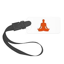 Yoga meditation Luggage Tag