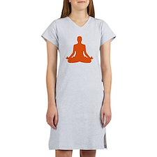 Yoga meditation Women's Nightshirt