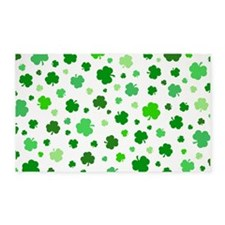 'Irish Shamrocks' 3'x5' Area Rug