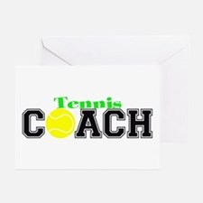 Tennis Coach Greeting Cards (Pk of 10)