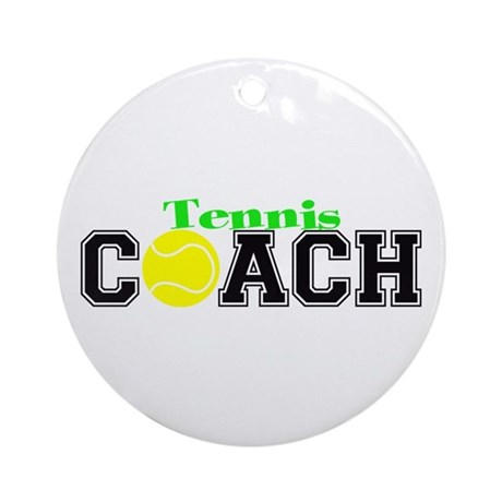 Tennis Coach Ornament (Round)