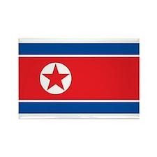 North Korea Flag Rectangle Magnet