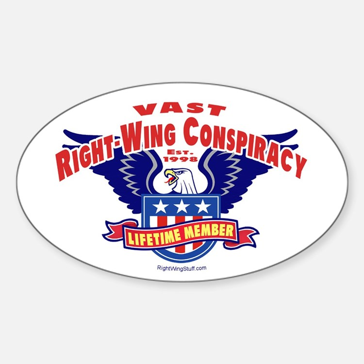 Vast Right-Wing Conspiracy Oval Decal