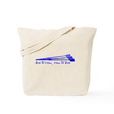 Live to Row - BLUE Tote Bag