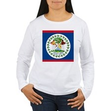 Flag of Belize Long Sleeve T-Shirt