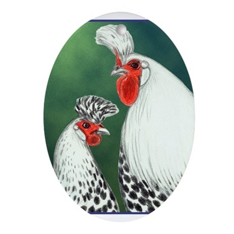 Spitzhauben Pair Oval Ornament