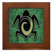 Tropical Turtle Framed Tile