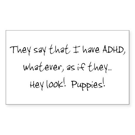 ADHD Puppies! Rectangle Sticker