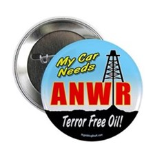"""ANWR - Terror-Free Oil! 2.25"""" Button (10 pack)"""