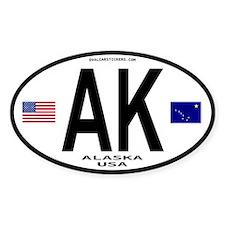 Alaska Sticker Euro Style (Oval)