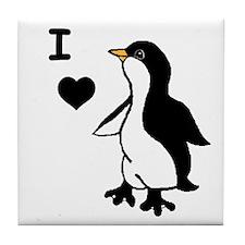 Penguin Draw Tile Coaster