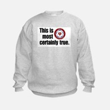 This is most certainly true. Sweatshirt