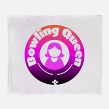 Bowling Queen Throw Blanket
