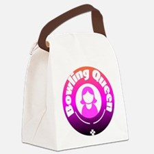 Bowling Queen Canvas Lunch Bag