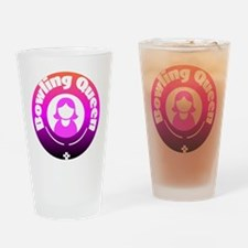Bowling Queen Drinking Glass
