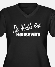 """The World's Best Housewife"" Women's Plus Size V-N"