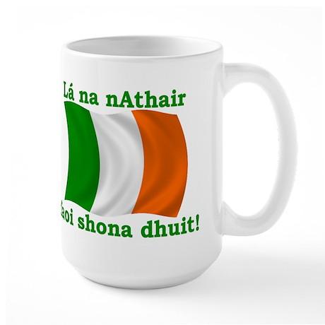 Father's Day Irish Flag Large Mug
