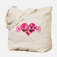 Mom's heart with amaryllis Tote Bag