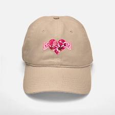 Mom's heart with amaryllis Baseball Baseball Cap