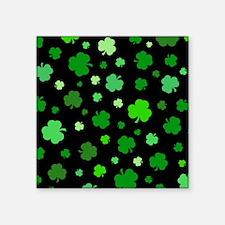 "'Irish Shamrocks' Square Sticker 3"" x 3"""