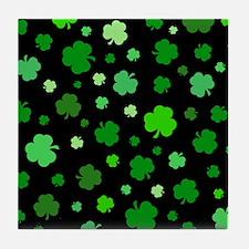 'Irish Shamrocks' Tile Coaster