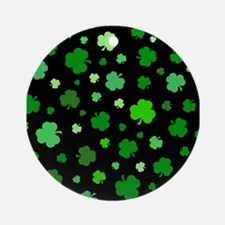 'Irish Shamrocks' Ornament (Round)