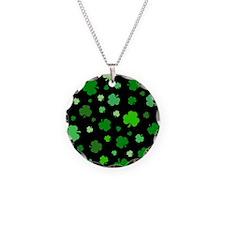 'Irish Shamrocks' Necklace Circle Charm