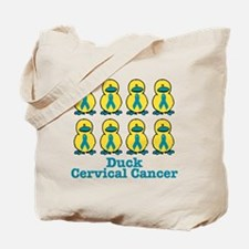 Ducks for a Cause Cervical Cancer Tote Bag