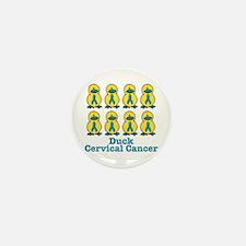 Ducks for a Cause Cervical Cancer Mini Button (10