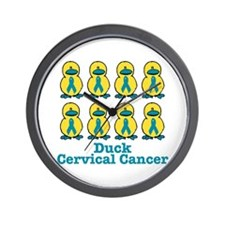 Ducks for a Cause Cervical Cancer Wall Clock