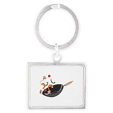 Wok Vegetables Shrimp Keychains