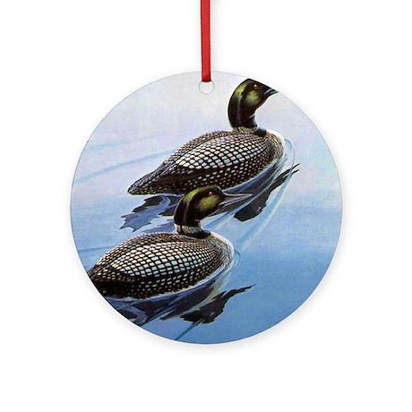 Loon Bird Ornament (Round)