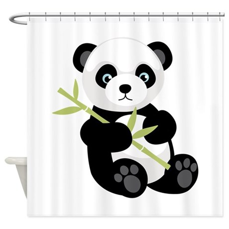 Panda bear shower curtain by hopscotch7 for Panda bear decor