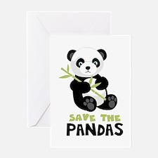 Save The Pandas Greeting Cards
