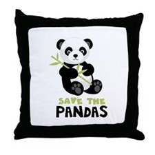 Save The Pandas Throw Pillow