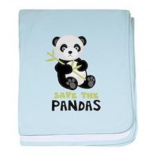 Save The Pandas baby blanket