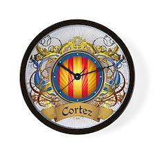 Cortez Family Crest Wall Clock