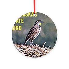 Meadowlark Bird Ornament (Round)