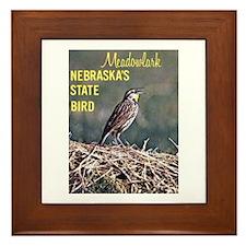 Meadowlark Bird Framed Tile
