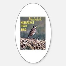 Meadowlark Bird Oval Decal