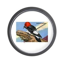 Red-Headed Woodpecker Bird Wall Clock
