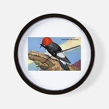 Red-Headed Woodpecker Bird Wall Clock