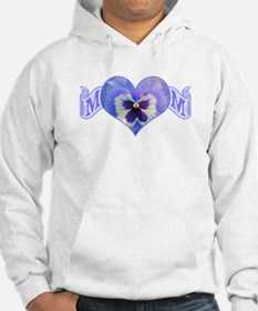 Mom's heart with pansy Hoodie