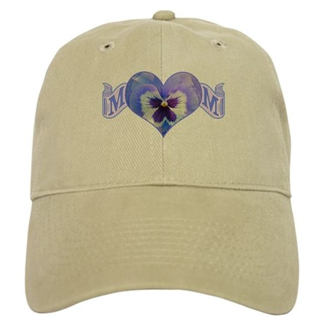 Mom's heart with pansy Cap