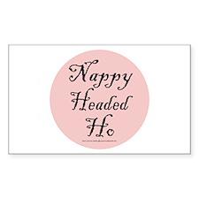 Nappy Headed Ho Rectangle Decal