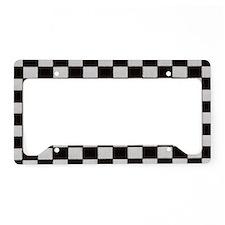 Classic Checkerboard License Plate Holder