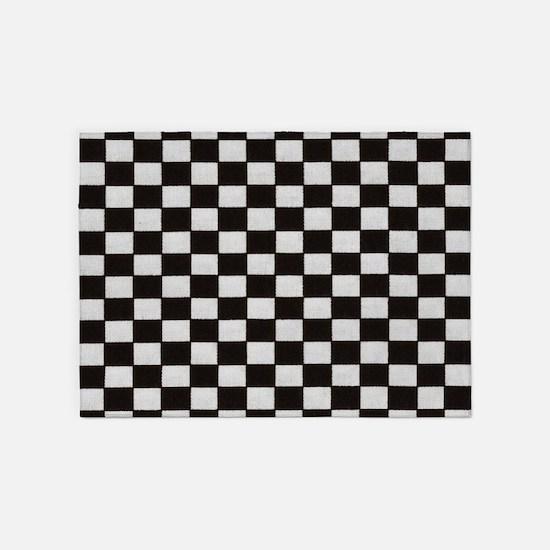 Classic Checkerboard 5'x7'Area Rug