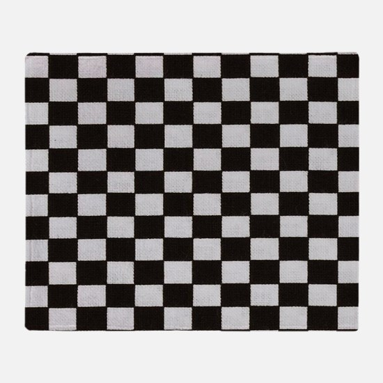 Classic Checkerboard Throw Blanket